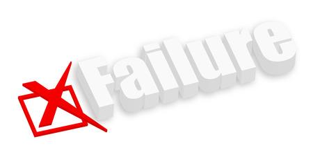 deselect: 3d Failure Text Illustration