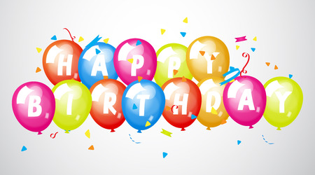 Happy Birthday Greeting Banner Vector