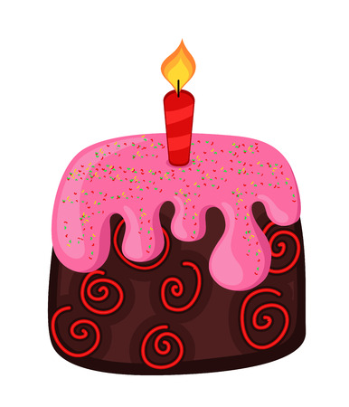 valentine          s day candy: Abstract Decorative Cake Design Illustration