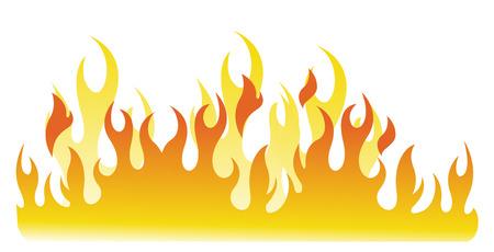 fuoco e fiamme: Fiamme di fuoco Vettoriali