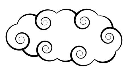 Japanese Cloud Design Vector