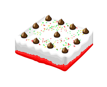 valentine          s day candy: Cake Vector Illustration