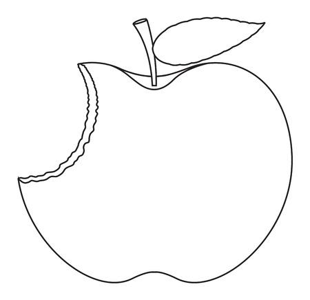 chunk: Eaten Apple Drawing