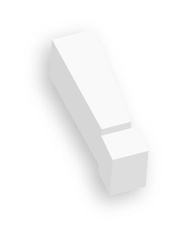 exclamation mark: 3d signo de exclamaci�n Vectores