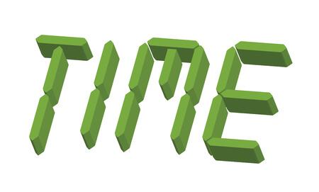 24x7: 3d Time Text Illustration