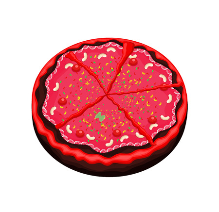 valentine          s day candy: Abstract Decorative Festival Cake Illustration