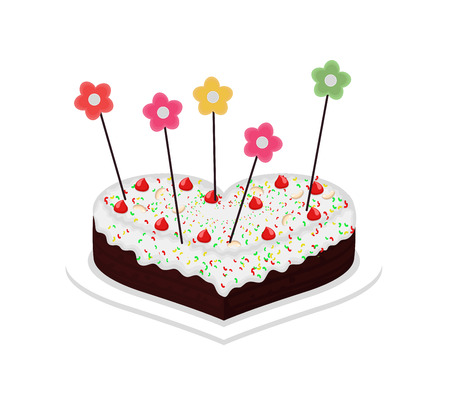 el coraz�n de san valent�n: Valentine Heart Cake