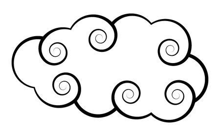 Spiral Cloud Vector