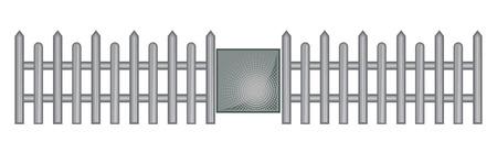 iron defense: Fence with Door