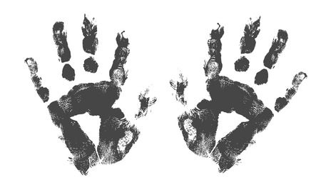 Scary Hand Prints Vector