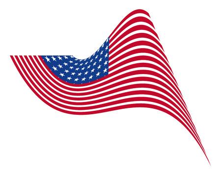 america flag: Independence Day Wavy America Flag Illustration