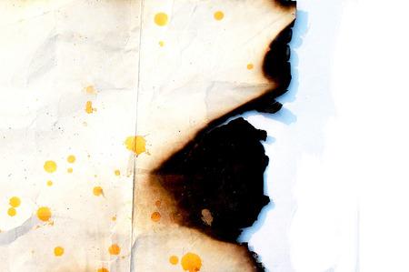 burnt paper: Burnt Paper Edge Texture Stock Photo