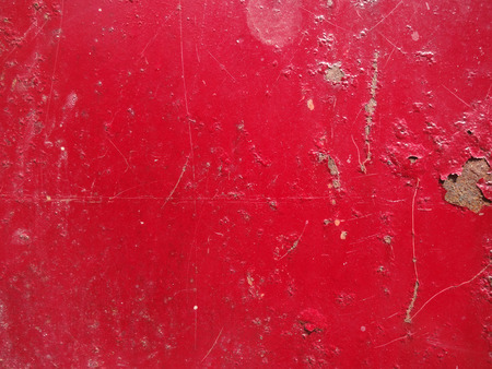 Rusty Red Painted Metal Surface photo