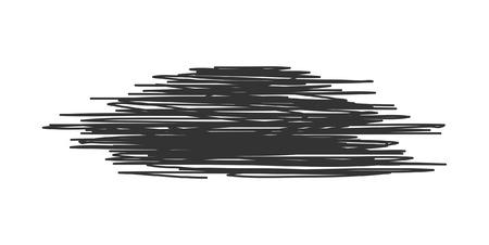 line drawings: Scribble Banner Illustration