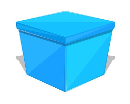 blue gift box: Blue Gift Box Illustration