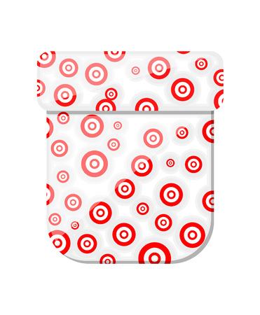 box design: Circles Pattern Box Design Illustration
