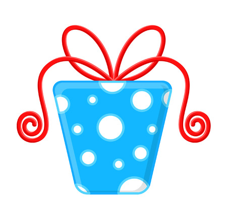 festive occasions: Wedding Gift Box Illustration