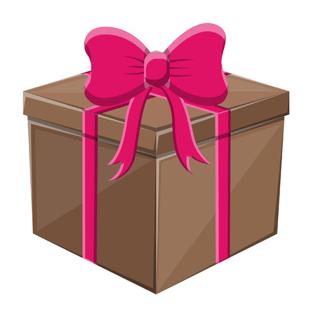 Wrapped Gift with Bow Illustration