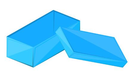 festive occasions: Blue Open Box Illustration