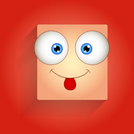 teasing: Funny Teasing Face Illustration