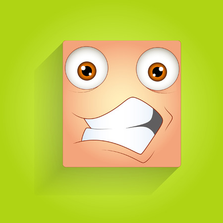 face expression: Cheerful Smiley Face Expression Illustration