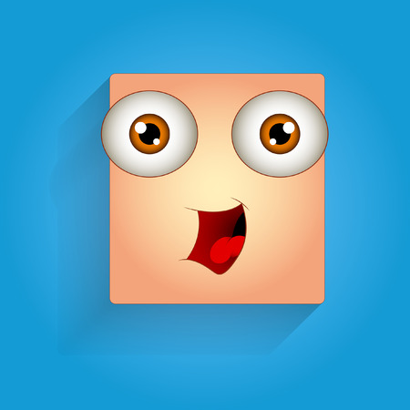 laughing: Cute Laughing Face Expression Illustration