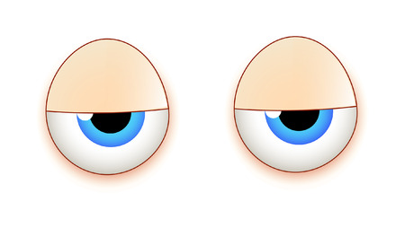 Lazy Cartoon Eyes Illustration
