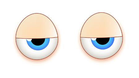 sleepily: Lazy Cartoon Eyes Illustration