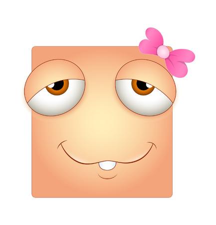 sleepily: Lazy Smiley Vector