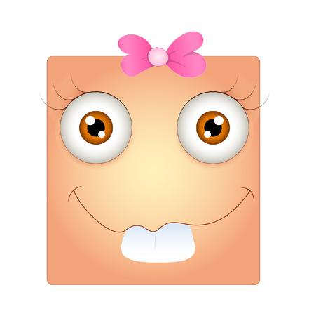 dumb: Funny Dumb Smiley Face Expression