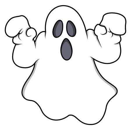 cartoon ghost - halloween vector illustration Ilustrace