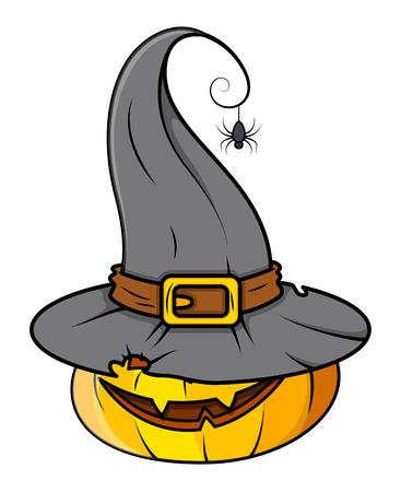 horrible: horrible spooky pumpkin - halloween vector illustration