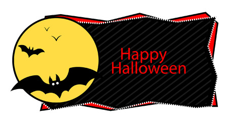 happy halloween banner Vector