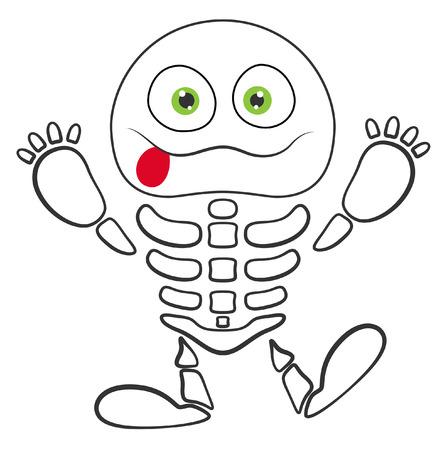 horrify: halloween skeleton monster vector Illustration