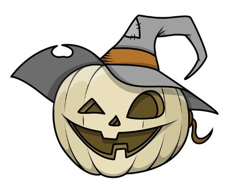 dumb: dumb jack-o-lantern vector illustration