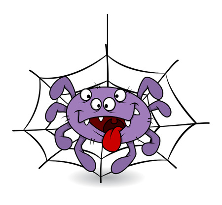 horrify: funny spider tongue out - halloween vector illustration Illustration