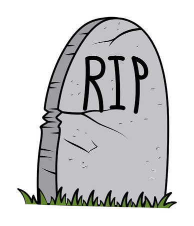 christian halloween: RIP - Grave cartoon - halloween vector illustration