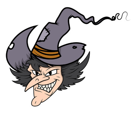 witch face: witch face - halloween vector illustration Illustration