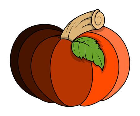 horrify: pumpkin vector illustration