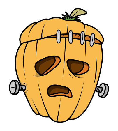 clipart frankenstein: spooky jack-o-lantern - halloween vector illustration Illustration