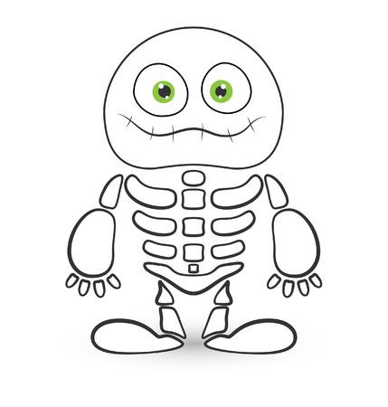 skeleton monster vector