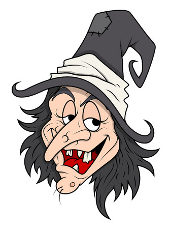 cunning: smiling cunning halloween witch vector