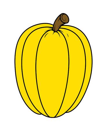 jack o' lantern: pumpkin for jack o lantern - halloween vector illustration