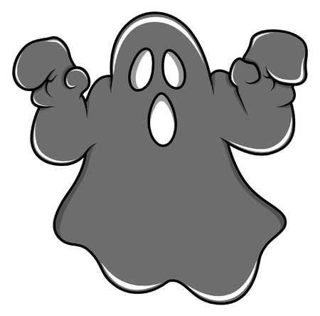 cute ghost: spooky halloween ghost cartoon vector
