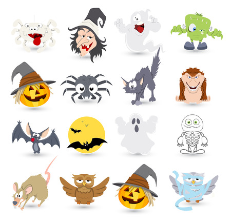 clipart frankenstein: halloween vector characters icons and illustrations