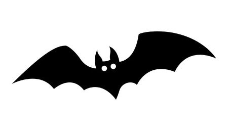 spooky eyes: bat silhouettes - halloween vector illustration