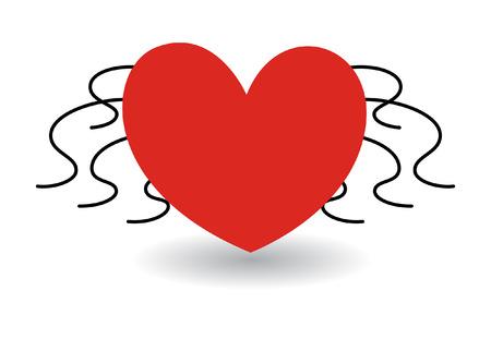 spider heart vector