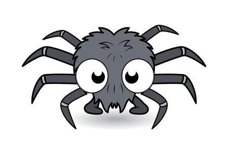 deadly poison: funny cartoon spider - halloween vector illustration Illustration