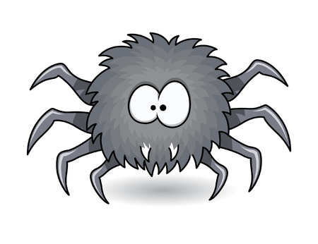 deadly poison: hunter spider - halloween vector illustration Illustration