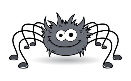 happy rockstar spider - halloween vector illustration